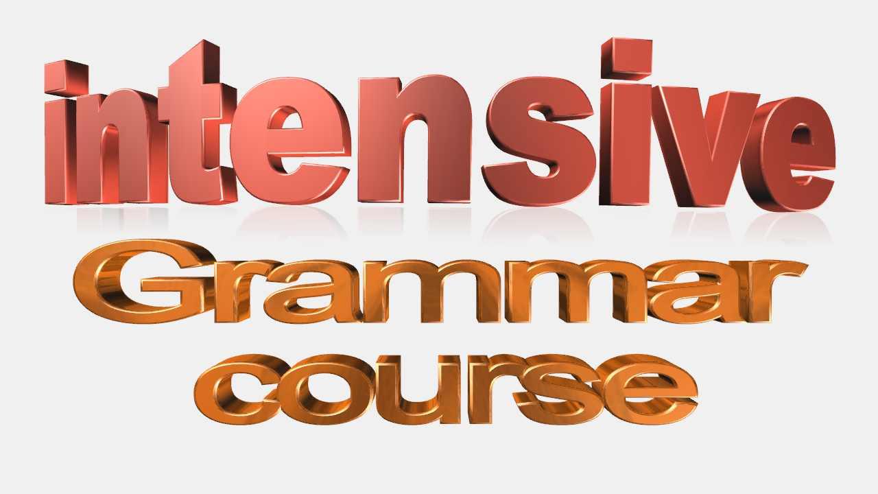 intensive grammar course